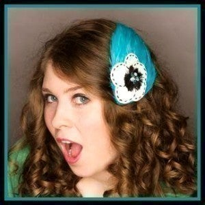 "Image of ""Pearly Blue Love You Too!"" Feather Fascinator"