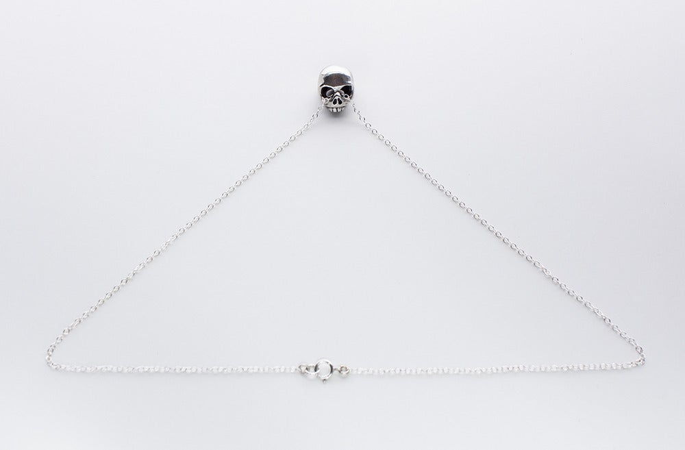 Image of Beloved Little Lamb Floating Skull Necklace