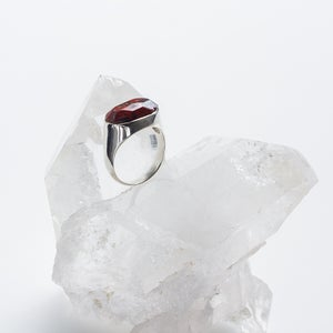 Image of Antique Red Jasper and Sterling Silver ring