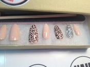Image of Cheetah & Nude Round Stiletto Press-Ons