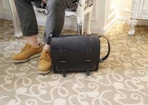 Image of Handmade Crocodile Leather Satchel / Messenger Bag / Camera Bag / Case - Unisex (m51)