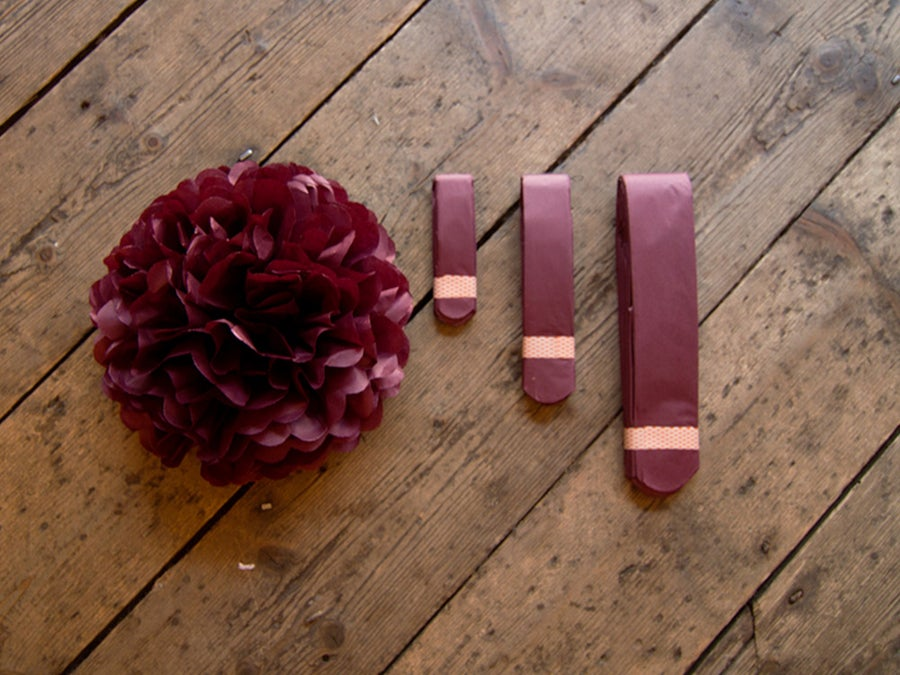 Image of Maroon Paper Pom