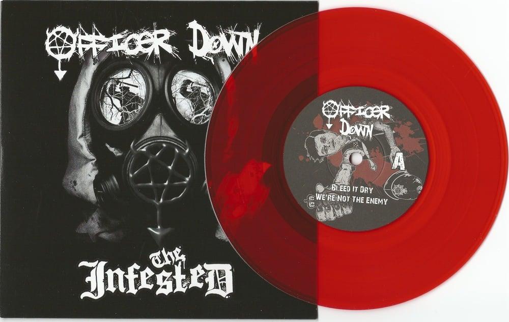 """Image of Officer Down/The Infested Split 7"""" Vinyl"""