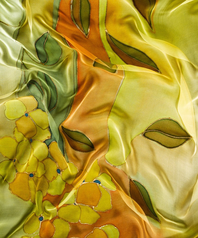 Image of Summer Tulip Silk Shawl - Handpainted Silk