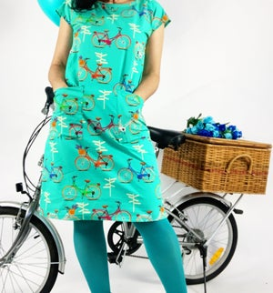 Ready Made On Your Bike Shift Dress with Free Postage