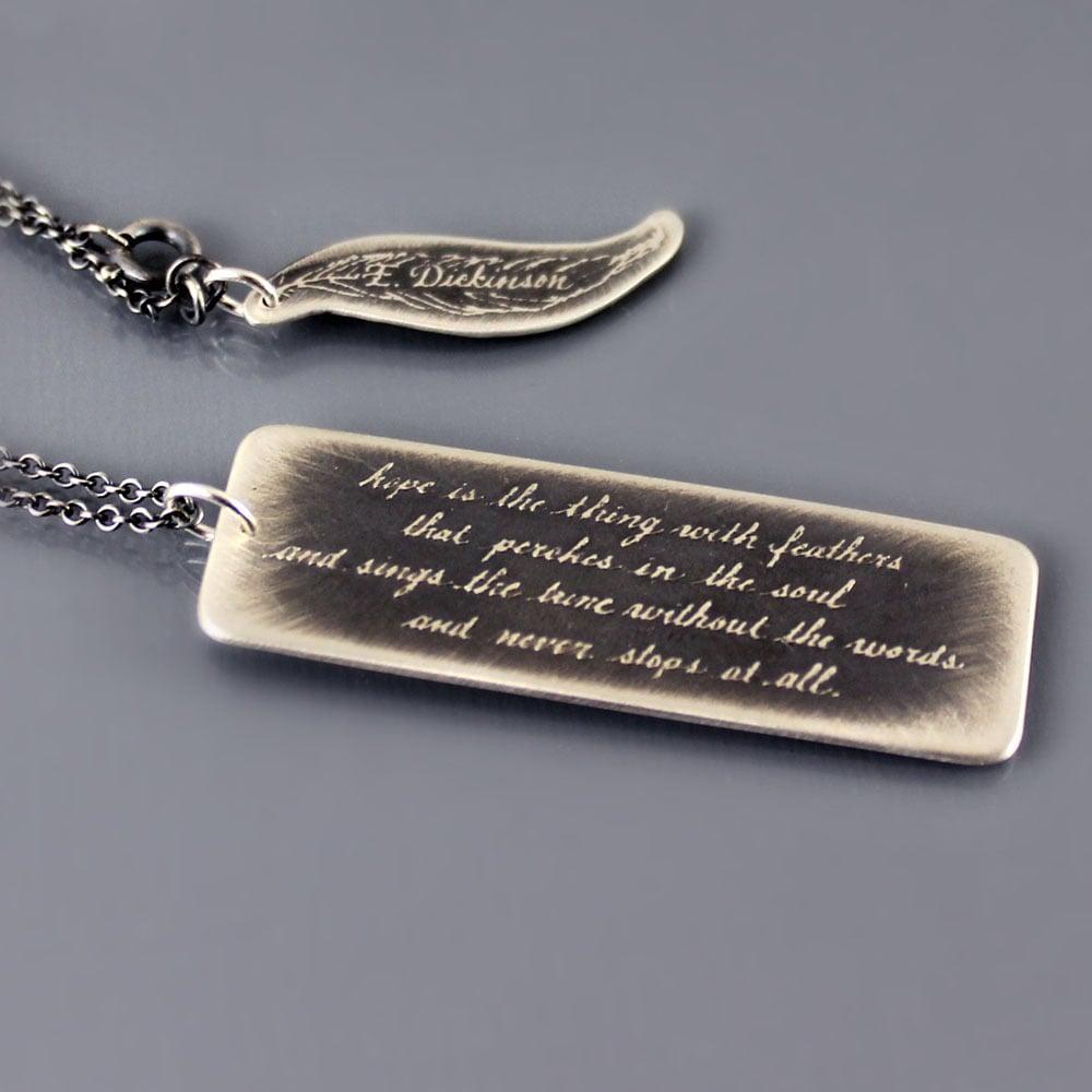 Image of Oxidized Emily Dickinson Necklace