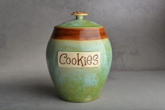 Image of Cookie Jar Patina & Brown Cookie Knob