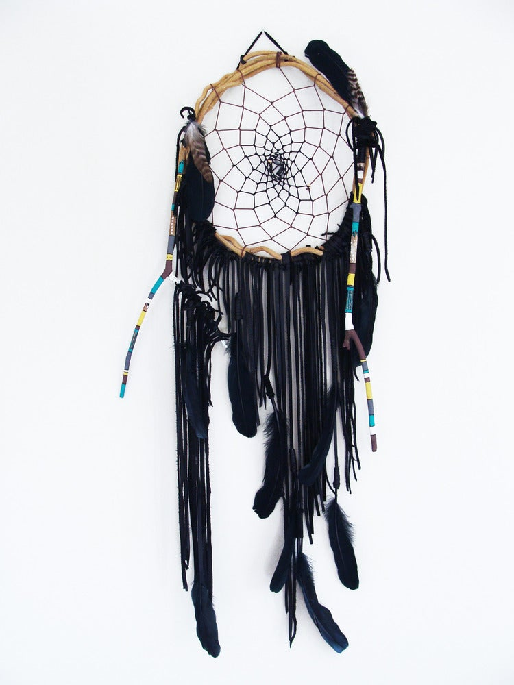 Image of Ethnic Pattern Black Dream Catcher      | NZ dlls