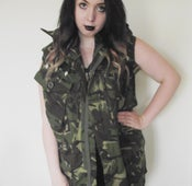 Image of Waterproof Hooded Studded Army Jacket.