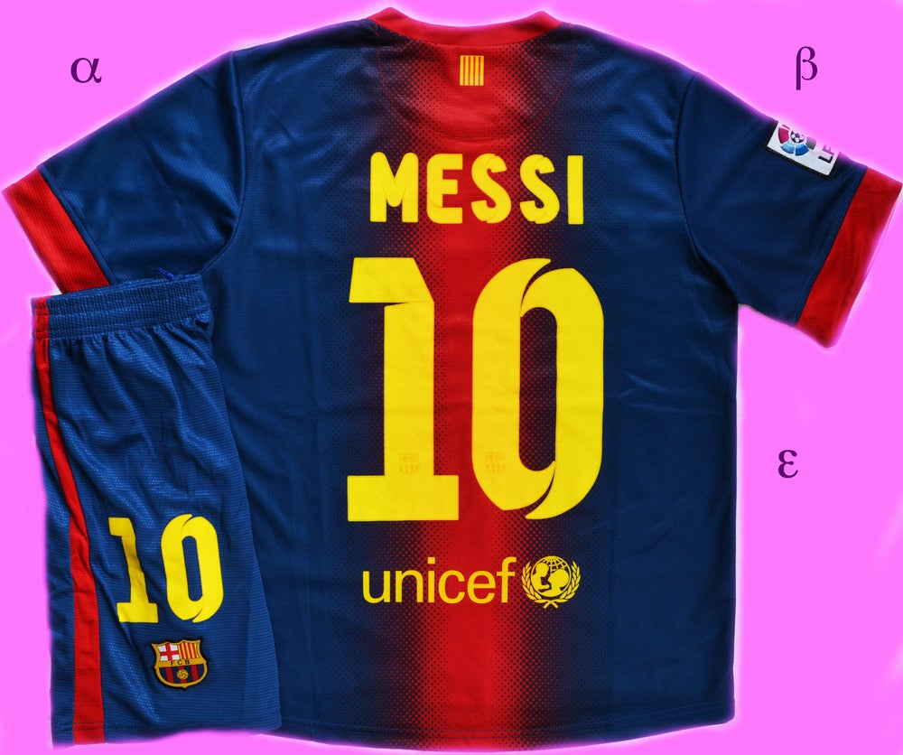 best website 66ea4 aeead Barcelona Home Kit Messi