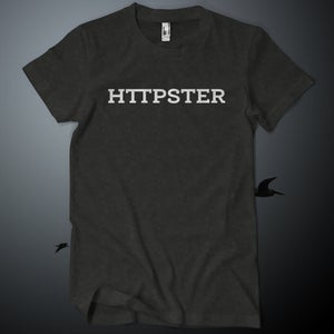 Image of HTTPSTER Tee, Bird Edition (Tri-Black)