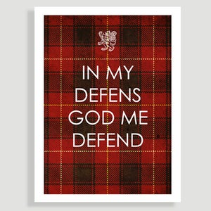 Image of In my defens God me defend