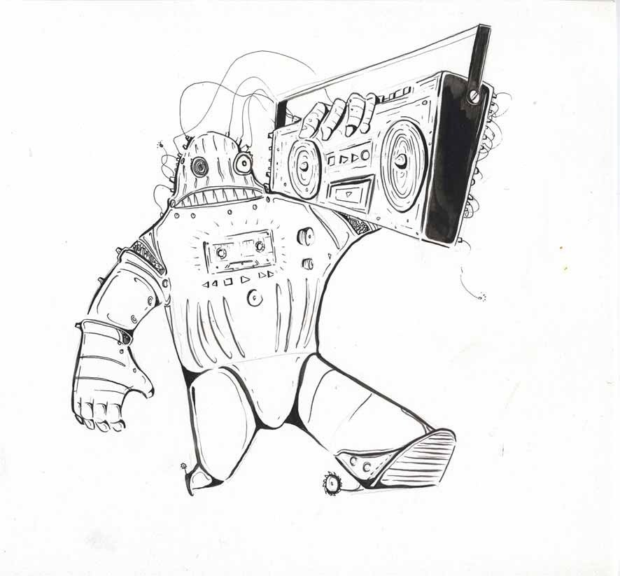 Image of Ghetto Bot Drawing