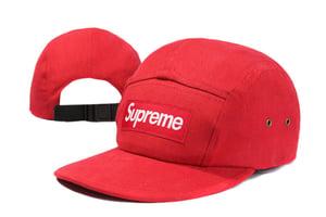 Image of Supreme Box Logo RED Camp Cap 5 Panel