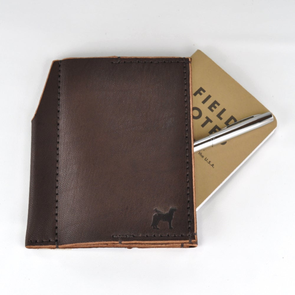 Image of Travel Wallet with Field Notes (Brown)