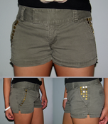 Image of Army Green Flat-top Shorts