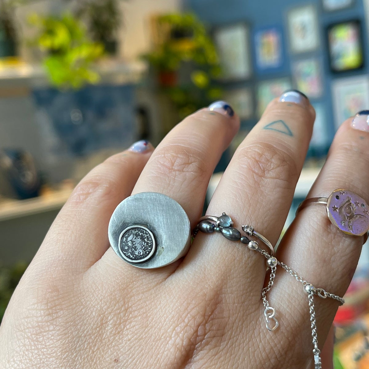 Image of moon eclipse signet ring