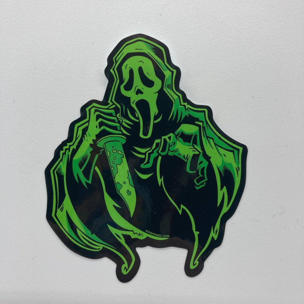 """Ghostface Stab"" Die-cut Sticker"