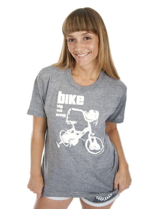 Image of Bike Crew Neck T-Shirt (White Graphic)
