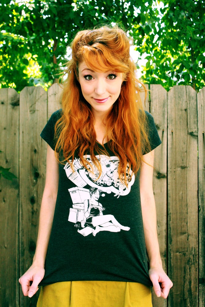Image of Full Bleed T-Shirt Charcoal: Girly style