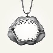 Image of Shark Jaw Necklace, Sterling Silver