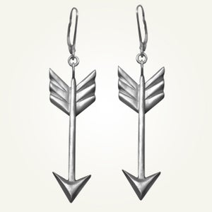Image of Arrow Earrings, Sterling Silver