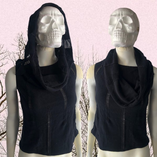 Image of One of a kind apocalypse shredded hooded crop tank
