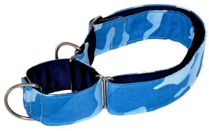 Image of Camouflage blue - Martingale in the category  on Uncommon Paws.
