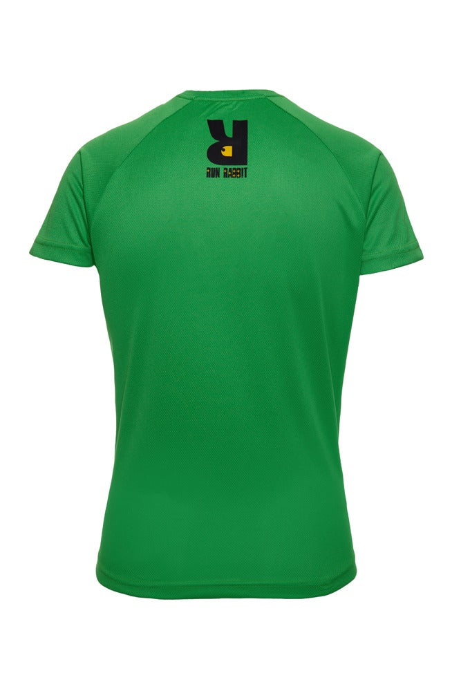 Image of Run Rabbit Logo Tee - Green