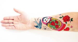 Image of Rosie Wonders Temporary Tattoos Russian Doll (girls)