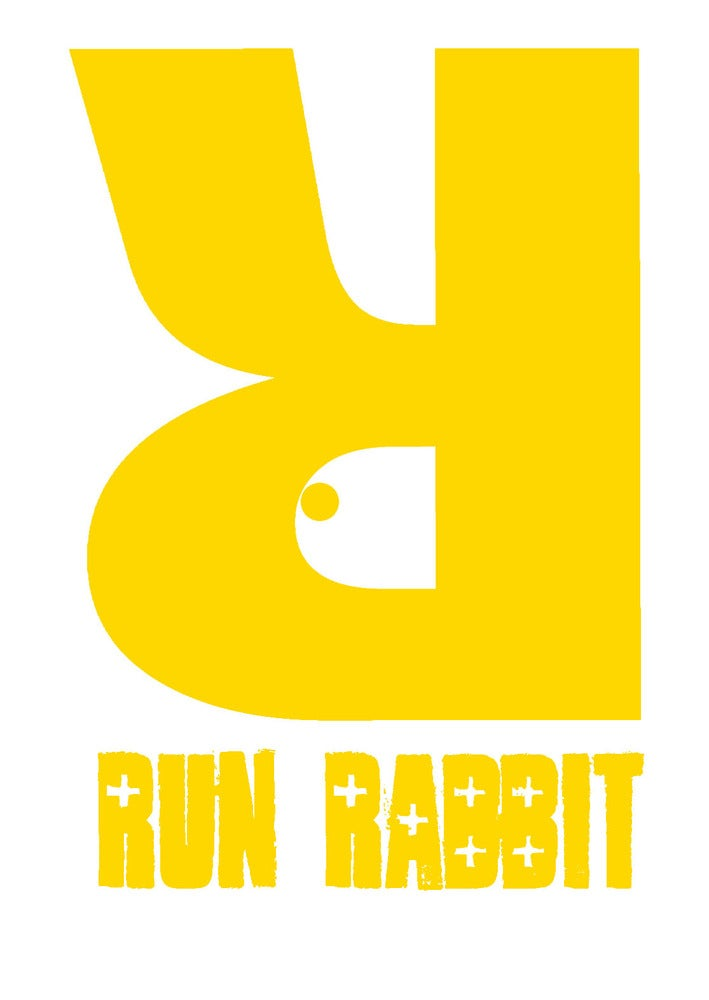 Image of Run Rabbit Logo Tee - Black