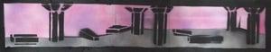 "Image of JAILBATE MAGAZINE: 'South Bank' Print (30"" X 7"")"