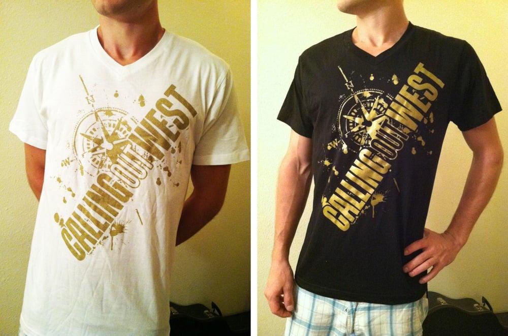 Image of Gold Compass V-Neck Shirt