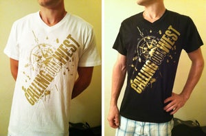 Image of Gold Compass V-Neck Shirt