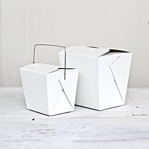 Image of White Noodle Box