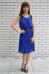 Image of Julian Pleated Dress