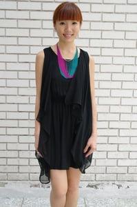 Image of Leona Layered Black Dress