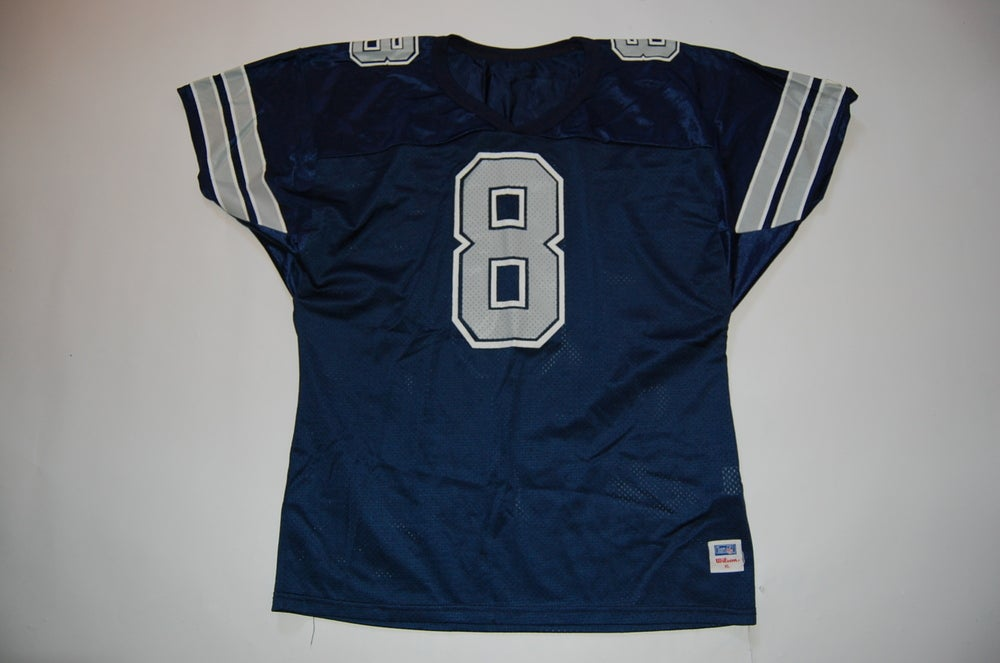 Image of Vintage Troy Aikman Jersey Blue