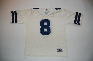 Image of Vintage Troy Aikman Jersey White