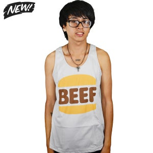 Image of BEEF Silver Tank (Unisex) Limited Edition!