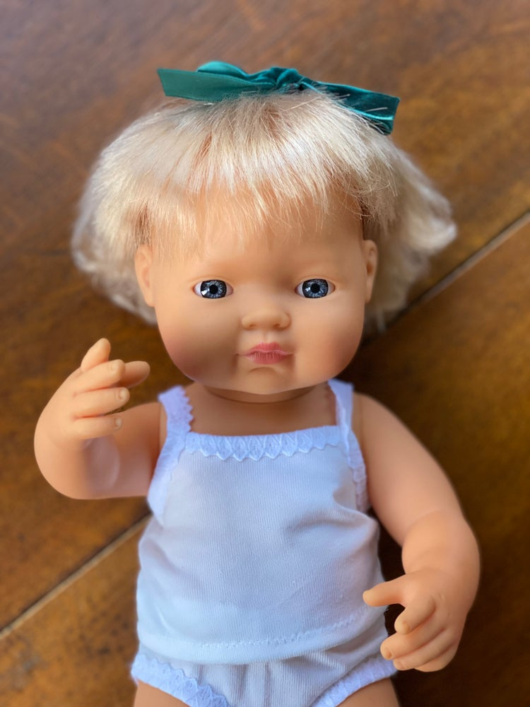 Image of Singlet to Suit 38cm Miniland Doll - White