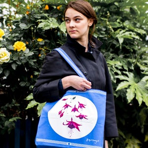 Image of Blue Fuchsia Shopping Bag