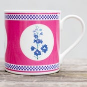 Image of Pink Delphinium Mug