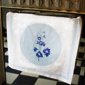 Delphinium Tea Towel