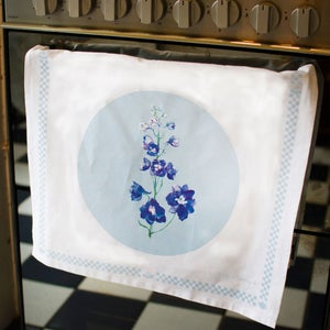 Image of Delphinium Tea Towel