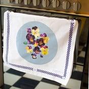 Pansies Tea towel