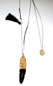 Image of 'plume' necklace