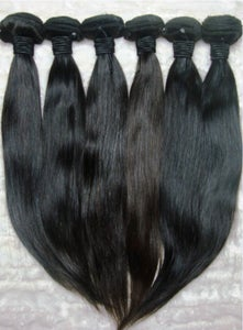 Image of *LIMITED TIME ONLY*PERUVIAN NATURAL STRAIGHT 4 BUNDLE SPECIAL 16 INCH 18 INCH 20 INCH 22 INCH!