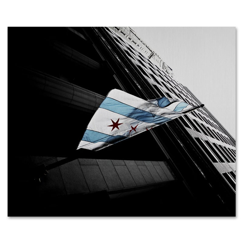 Image of Chicago Flag Metal