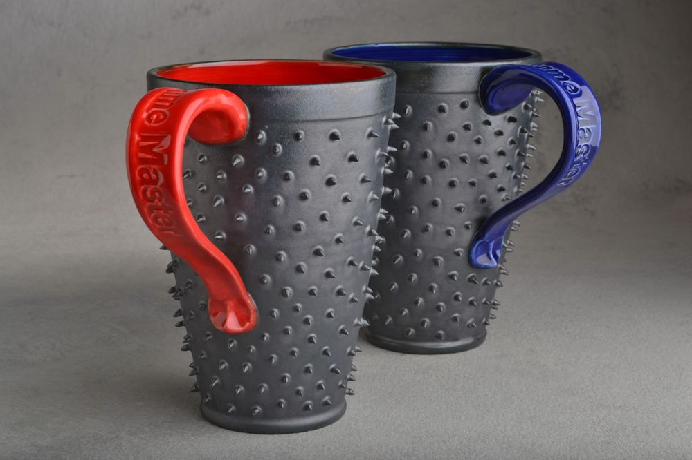 Image of Spiky Mugs Tall Set Of Two